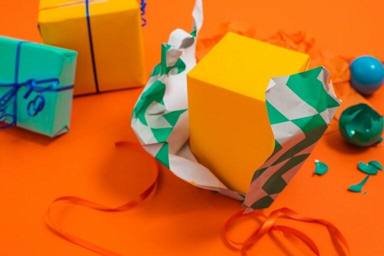 Envases de regalo festivas y ecológicas