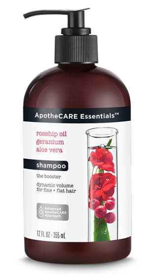 ApotheCARE Essentials™ - The Booster Volumizing Shampoo para cabello fino y delgado