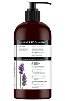 Back of body wash ApotheCARE Essentials™ The Soother Body Wash Lavender Cactus Flower Moroccan Mint 16oz
