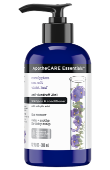 Front of shampoo ApotheCARE Essentials™ The Rescuer 2-in1 Shampoo and Conditioner Eucalyptus 12oz