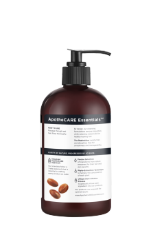 Parte trasera del champú ApotheCARE Essentials™ The Replenisher Shampoo Vanilla Argan Oil Almond Milk 12oz.