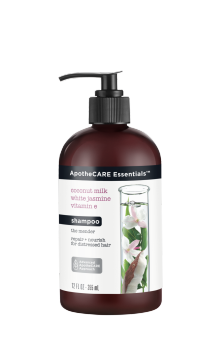 Front of shampoo ApotheCARE Essentials™ The Mender Shampoo Coconut Milk White Jasmine Vitamin E 12oz