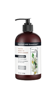 Parte frontal del champú ApotheCARE Essentials™ The Replenisher Shampoo Vanilla Argan Oil Almond Milk 12oz