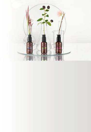 ApotheCARE Essentials™ - Moistirizers Product Range with Natural Ingredients in Beakers