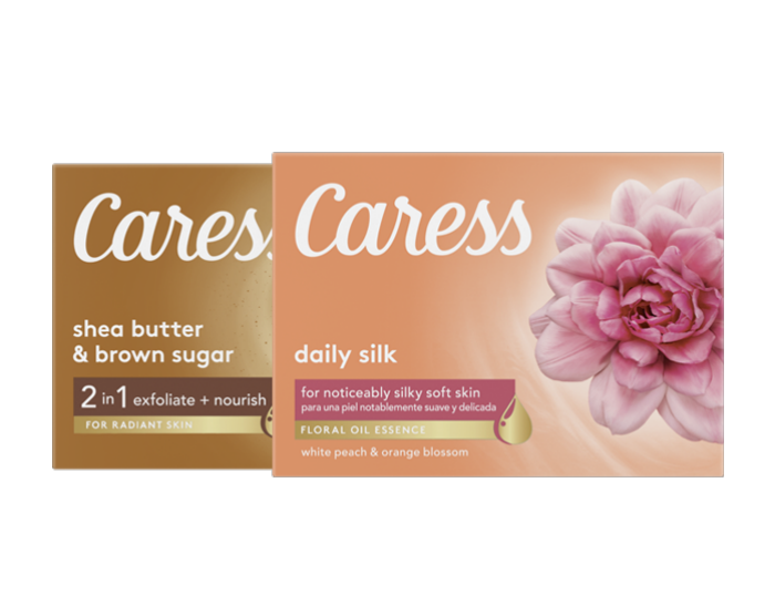 Caress Daily Silk Body Wash and Shea Butter y manteca de karité y azúcar morena