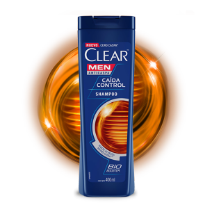 Front of shampoo pack Clear Shampoo Caída Control 200ml