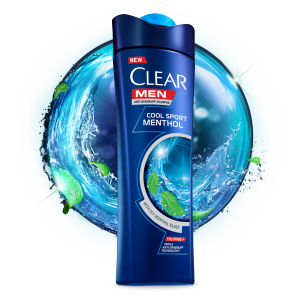 Front of shampoo pack Clear Shampoo Limpieza Diaria 2 en 1 200ml