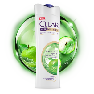 Front of shampoo pack Clear Superfresh Apple Anti-Dandruff Shampoo 170ml