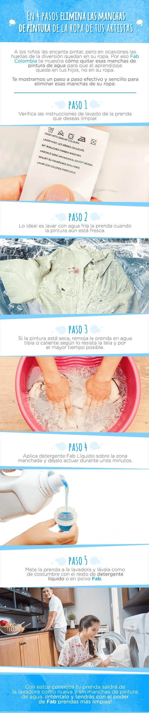 Banner explica en cuatro pasos como eliminar las manchas de pintura de la ropa