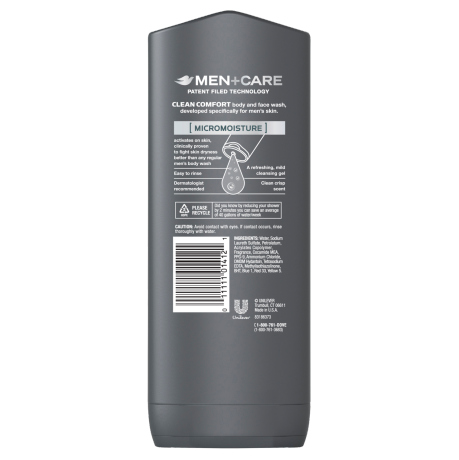 PNG - Dove Men+Care Clean Comfort Body and Face Wash 13.5 oz