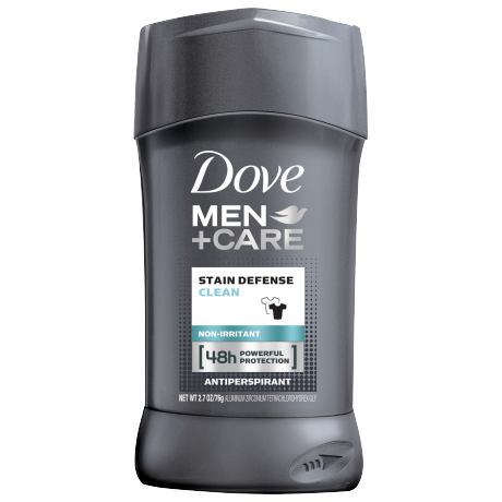 Dove Men+Care Stain Defense Clean Antiperspirant Deodorant Stick 2.7 oz