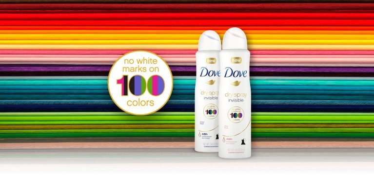 Dove invisible en 100 colores, el héroe: Dry Spray
