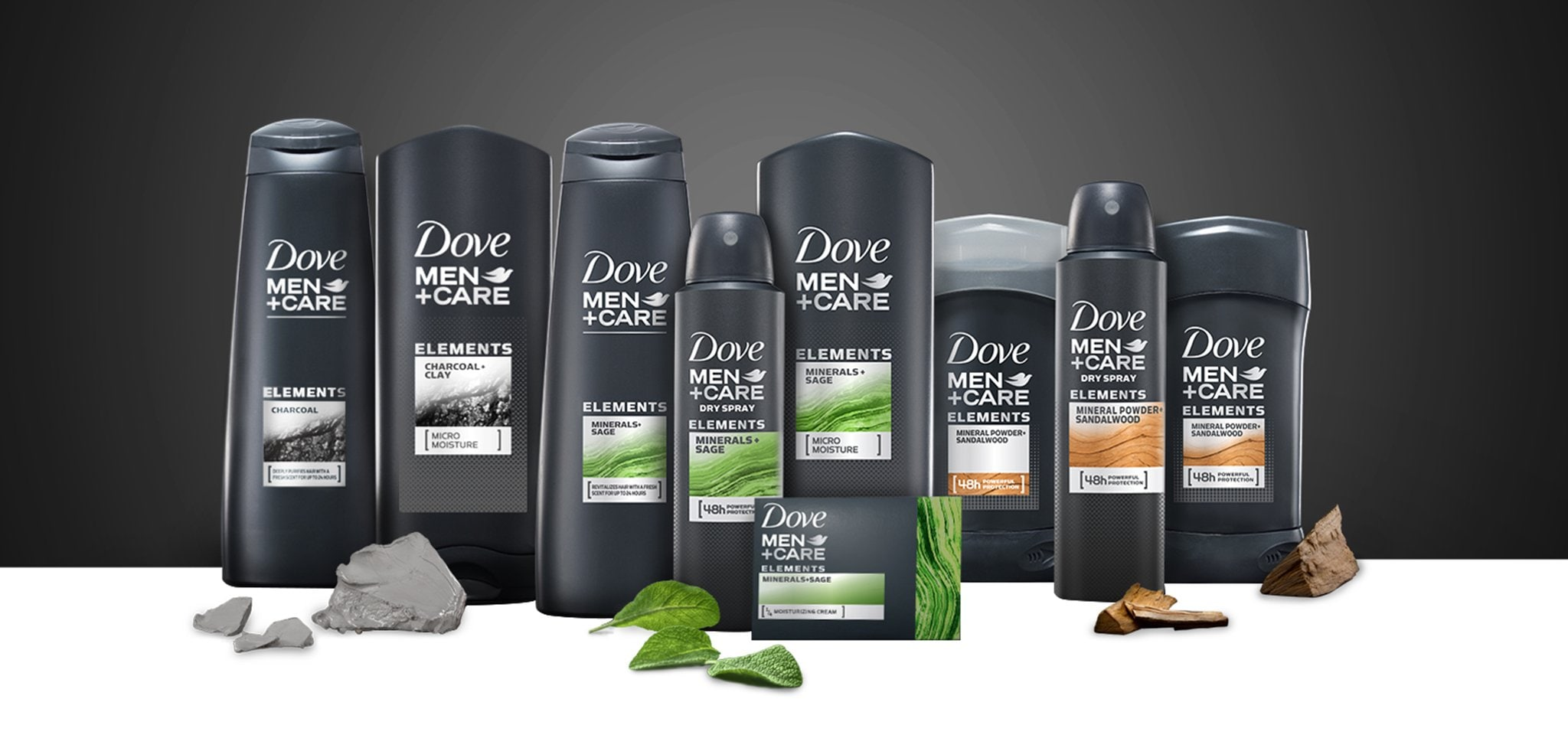 Dove Elements Collection: Soap, Body Wash, Shampoo, and Deodorant