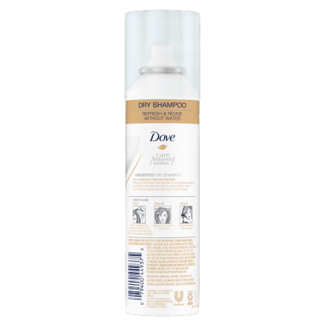 Dove Unscented Dry Shampoo 5 oz