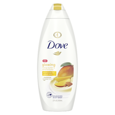 Dove Glowing Body Wash Mango Butter & Almond Butter 22 oz