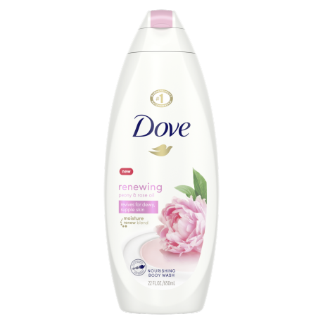 Renewing Body Wash with Peony and Rose Oil 22 oz