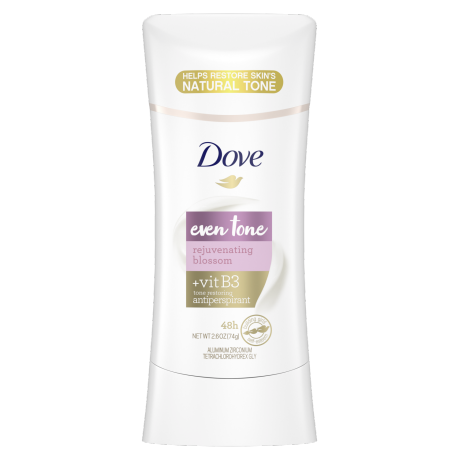 Dove Even Tone Antiperspirant Deodorant Rejuvenating Blossom 2.6oz