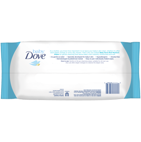 PNG - Baby Dove Rich Moisture Hand and Face Wipes 30 Ct