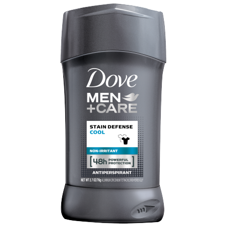 Dove Men+Care Stain Defense Cool Antiperspirant Deodorant Stick 2.7 oz