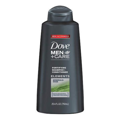 Dove Men+Care Minerals + Sage Fortifying Champú y Acondicionador 25.4oz