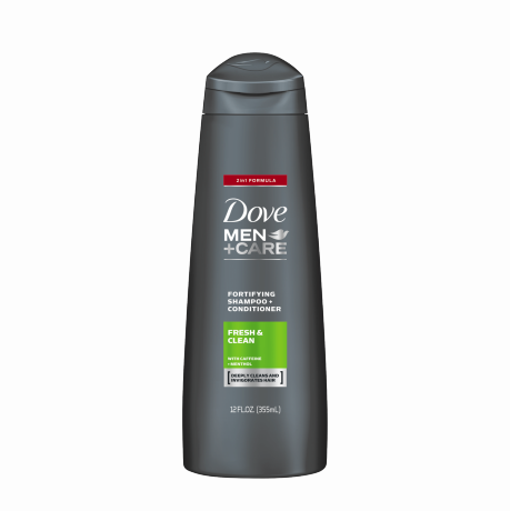Dove Men+Care Fresh & Clean Fortifying 2-in-1 Shampoo 12 oz.