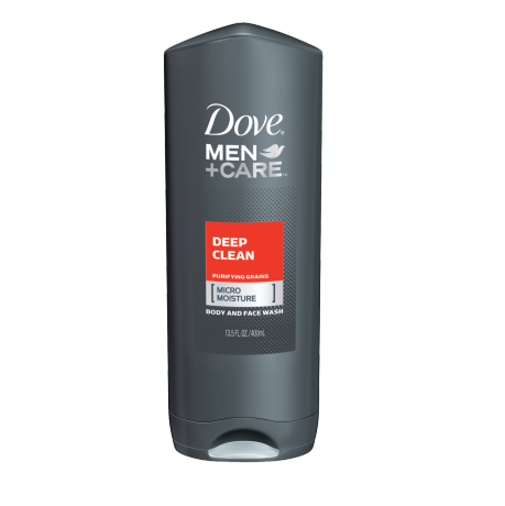 Dove Men+Care Deep Clean Body and Face Wash 13.5 oz