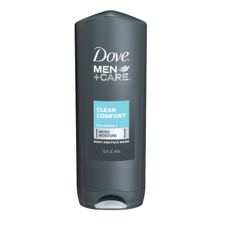 Dove Men+Care Clean Comfort Body and Face Wash 13.5 oz