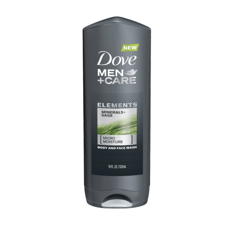 Dove Men+Care gel de baño Minerals + Sage 18oz