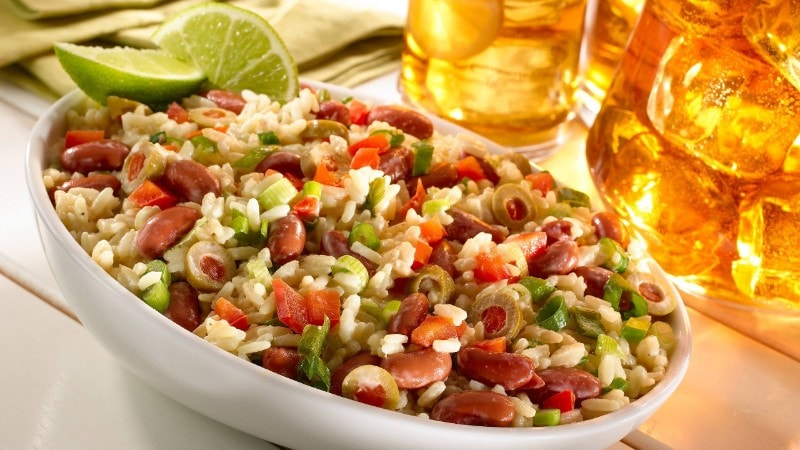 Creamy Rice & Bean Salad