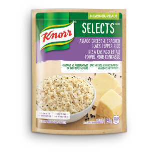 Selects Asiago Cheese & Cracked Black Pepper Rice side dish
