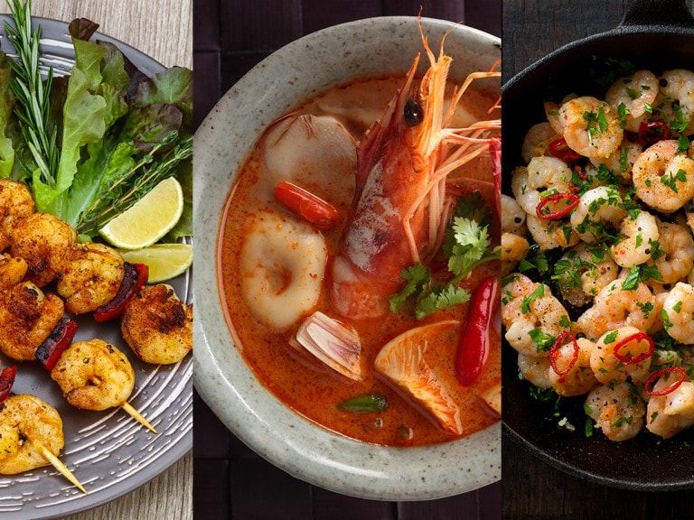 Three delicious ways to cook shrimp