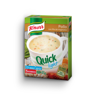 Sopa Quick light de Pollo con mix de Vegetales
