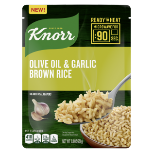 Knorr Ready to Heat Arroz Integral con Aceite de Oliva y Ajo
