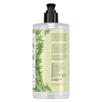 Back of liquid hand wash pack Love Beauty Planet Tea Tree & Vetiver Liquid Hand Wash 400ml
