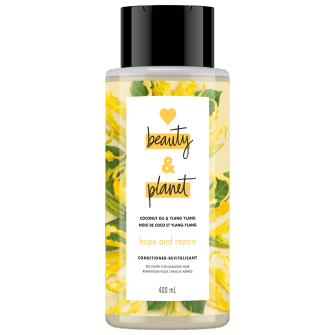 Image de l'emballage du Coconut Oil & Ylang Ylang Conditioner de Love Beauty & Planet