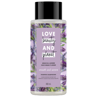 Image de l'emballage du Argan Oil & Lavender Shampoo de Love Beauty & Planet