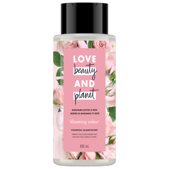 A front of pack image of Love Beauty & Planet Murumuru Butter & Rose Shampoo