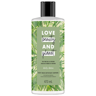 Image de l'emballage du Tea Tree Oil & Vetiver Body Wash de Love Beauty & Planet