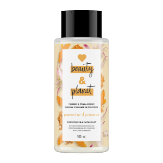 Image de l'emballage du Turmeric & Tonka Essence Conditionner de Love Beauty & Planet