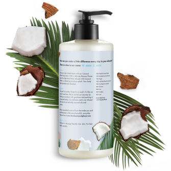 Back of body lotion pack Love Beauty Planet Coconut Water & Mimosa Body Lotion Luscious Hydration 13.5oz