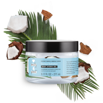 Front of body hydro gel pack Love Beauty Planet Coconut Water & Mimosa Flower Body Hydro Gel Luscious Hydration 9.17oz