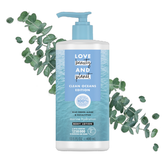 Front of Body Lotion Pack Love Beauty And Planet Blue-Green Algae & Eucalyptus 13.5oz