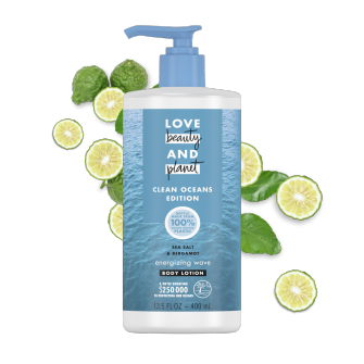 Front of Body Lotion Pack Love Beauty And Planet Sea Salt & Bergamot 13.5oz
