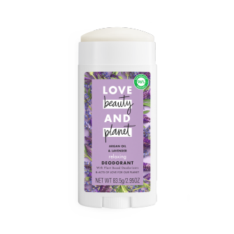 Love Beauty and Planet Clean Beauty Award Argan Oil & Lavender 2.95oz