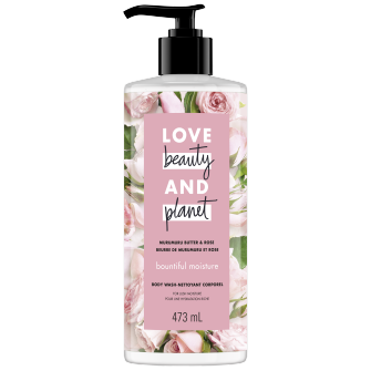 Image de l'emballage du Murumuru Butter & Rose Body Wash de Love Beauty & Planet