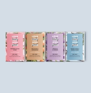 four soap bars