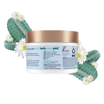 Back of body scrub pack Love Beauty Planet Cactus Flower & Basil Whipped Body Scrub