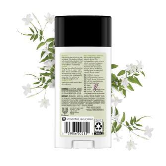 Back of deodorant pack Love Beauty and Planet Coconut Milk & White Jasmine