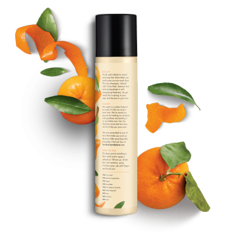 Back of dry shampoo pack Love Beauty Planet Citrus Peel Dry Shampoo Radical Refresher 4.3oz