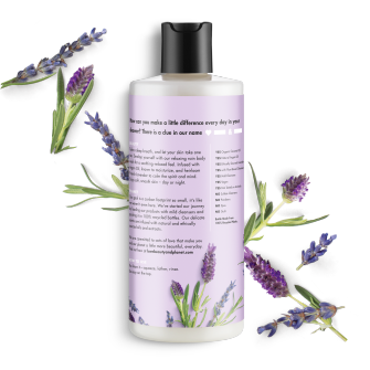 Back of body wash pack Love Beauty Planet Argan Oil & Lavender Body Wash Relaxing Rain 16oz